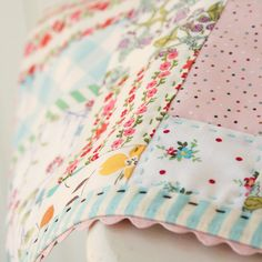 sherbet patchwork placemat by nanaCompany, via Flickr
