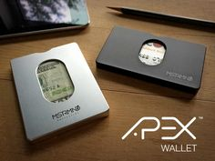 The APEX Wallet is a slim, minimal, modern wallet precision machined from a solid block of aircraft-grade aluminum.