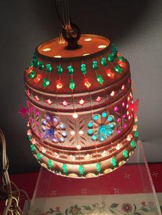 $50-Vintage Lawnware Hanging Light by VyvsVintage on Etsy