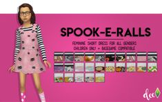 Lana CC Finds - deetron-sims: Spoopy Overalls for your spoopy...