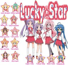 Image result for all lucky star characters