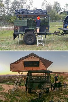 Rooftop Tent - CVT Mt McKinley on a converted military trailer #Survival #Preppers