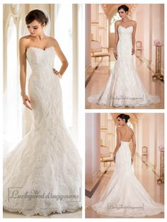 Strapless Trumpet Mermaid Sweetheart Lace Wedding Dresses http://www.ckdress.com/strapless-trumpet-mermaid-sweetheart-lace-  wedding-dresses-p-2015.html  #wedding #dresses #dress #lightindream #lightindreaming #wed #clothing   #gown #weddingdresses #dressesonline #dressonline #bride