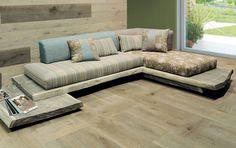 Canapé sofa toile de lin naturelle decodesign / Décoration