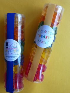 Unique custom packaged gummi bear party favor thank by FeteSetter, $19.50