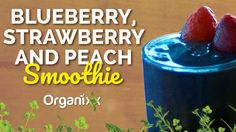Want to try something that is velvety creamy and an explosion of yumminess on your taste buds? Try this Blueberry, Strawberry and Peach Smoothie now (if not sooner!) If you enjoyed this recipe please comment below! <3