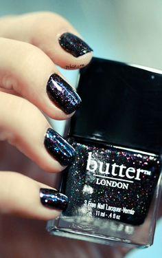 Nails, Nail Polish, Nail Art / The Black Knight - Butter London