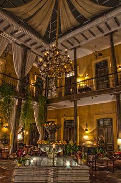 Alcazar Mansion boutique hotel lobby in Cuenca, Ecuador. www.studio1122.com