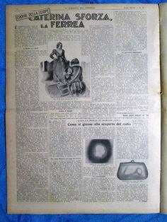 La Domenica del Corriere July 22, 1934 Mussolini - Alpine - Caterina Sforza