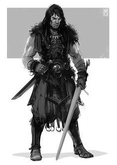 Conan sketch, Borislav Mitkov on ArtStation at https://www.artstation.com/artwork/egAQZ