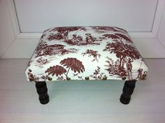 #Gifts : Mahogany Wood and veneer.  Fruit Pickers  Design. Light Footstool. FREE DELIVERY