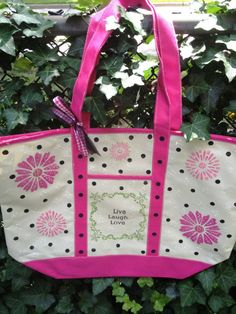 """Handpainted heavy duty waterproof backed canvas tote. Bag measurements are 20"""" W x 14 H x 6 1/2"""" D.  by RockinRobinsBling, $20.00"""