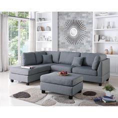 Reversible Chase Sectional from Infini Home Furnishings - Sand Beige  http://www.wayfair.com/Modern-Contemporary-Sectional-Sofa-and-Ottoman-Set-INF760JBW-IFIN1021.html