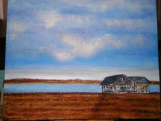 A Shack In the Hamptons Original Acrylic Painting by ArtForComfort, $200.00  http://www.etsy.com/listing/109449454/a-shack-in-the-hamptons-original-acrylic