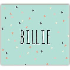 Ook leuk bij @bollieboom! Geboortekaartje Billie