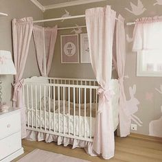 Credit: @lindevegen  Girly baby bedroom - Architecture and Home Decor - Bedroom - Bathroom - Kitchen And Living Room Interior Design Decorating Ideas - #architecture #design #interiordesign #homedesign #architect #architectural #homedecor #realestate #contemporaryart #inspiration #creative #decor #decoration