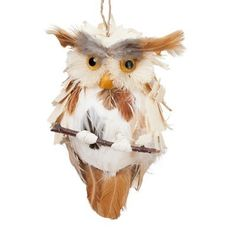 Natural Woodland Owl Ornament  - hoo hoo....who who....Doctor Who Christmas Special!!! #indigo #magicalholiday