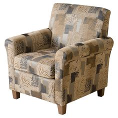 Brunswick Club Chair Multi Animal   Christopher Knight Home, Beige