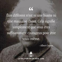 On notera la citation d'Albert camus sur la tête d'Albert Einstein xD Positive Mind, Positive Attitude, Positive Quotes, Me Quotes, Motivational Quotes, Inspirational Quotes, Tiger Quotes, Camus Quotes, Never Stop Dreaming