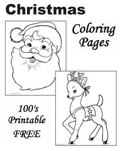 Christmas coloring pages!