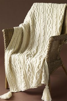 Free Knitting Pattern for Lover's Knot Afghan