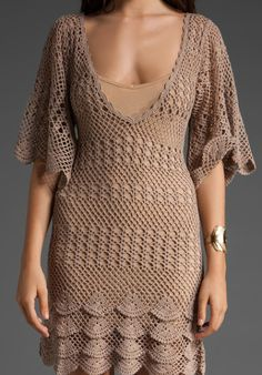 This is NOT your grandma's crochet dress! :)