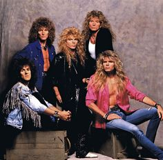 They wore big hair, tight spandex and had difficulty spelling their own names. While hard rock purists grumbled about their reliance on flashy solos and heavy pyrotechnics, the hair metal bands tha… Glam Metal, Big Hair Bands, Hair Metal Bands, Hard Rock, David Coverdale, Mr Big, 80s Music, Rock Music, Live Music