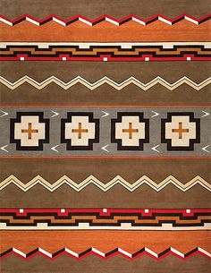 New Moon Rug   LW12L, Grey/chestnut. Featuring Hues Of Brown, Orange