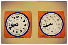 Telling time .. analog style #homeschool #time #learning #clocks #teaching #blog #photography