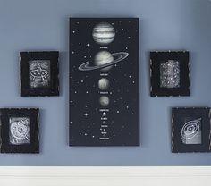 Solar System LED Art #pbkids  Diy solar system and ufo art for new bedroom decor