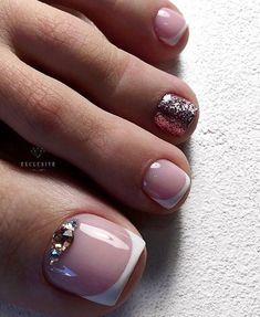 Pedicure Designs, Pedicure Nail Art, Toe Nail Designs, Toe Nail Art, Pedicure Colors, Nail Gel, Pretty Toe Nails, Cute Nails, My Nails