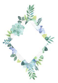 Floral Clipart White roses and succulents frames flower Floral Frames, Binder Cover Templates, Succulent Frame, Framed Wallpaper, Creation Photo, Sun Designs, Bullet Journal Ideas Pages, Flower Frame, White Roses