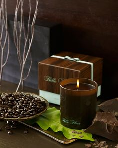 Belle Fleur's Cacao Tabaq is a robust espresso accord fused with Arabian fire-cured tobacco leaf, ebony wood and deep dark chocolate.  This handsome fragrant candle leaves you with the desire for more.   www.bellefleurny.com