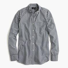 Club-collar boy shirt in gingham