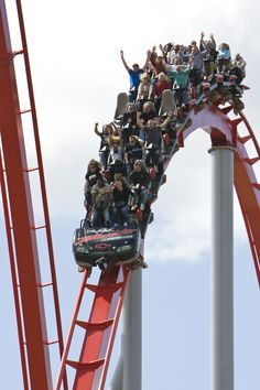 Please keep all hands inside at all times. Intimidator roller coaster at Carowinds