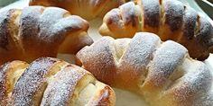 Rychlé sladké rohlíčky plněné vanilkovým pudinkem