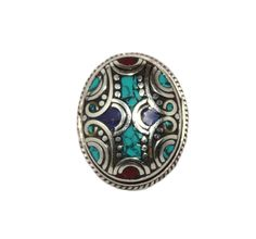Adjustable turquoise ring