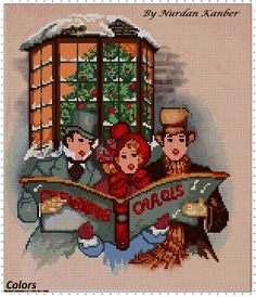Christmas Carolers - designed by Nurdan Kanber ( based on an old postcard)