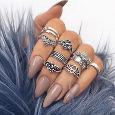 A must follow account ladies @indigo_lune @indigo_lune @indigo_lune the Nails n rings are to die for