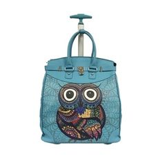 Shop for Rollies Miss Owl Rolling Aluminum Laptop Travel Tote. Get free delivery On EVERYTHING* Overstock - Your Online Luggage Store! Carry On Tote, Best Carry On Luggage, Kids Luggage, Luggage Store, Travel Tote, Travel Luggage, Lightweight Suitcase, Luggage Deals, Luggage Sizes