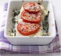 Haddock & spinach cheese melt