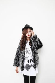 Filthy Magic — Black & White Faux Fur - StyleSays