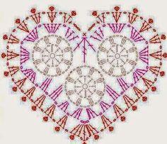 Ivelise Feito à Mão: Corações De Crochê
