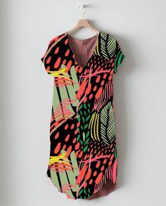 como quedarian los diseños aplicados a indumentaria by jimena palacios, via Behance