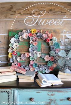 paper flower peace sign, crafts, home decor