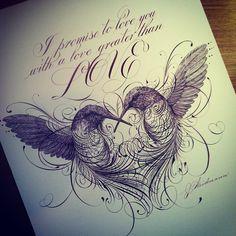 Exquisite penwork by Jake Weidmann