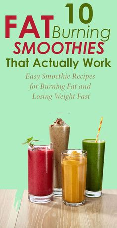 Smoothie Recipes The reason why smoothies are great for weight loss is because they offer all the necessary ingredients for losing weight in just one glass without relying on loads of calories. Weight Loss Meals, Weight Loss Drinks, Weight Loss Smoothies, Weight Gain, Breakfast Smoothies For Weight Loss, Breakfast For Losing Weight, Losing Weight Food Plan, Shakes For Weight Loss, Reduce Weight