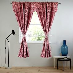 Check out this product on Alibaba.com App:Polyester Jacquard window curtain with valance Rod pocket living room curtain Christmas window panel 60x84 18in Damask Wine https://m.alibaba.com/FJJjEz