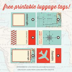 FREE Printable Designer Luggage Tags, And Your Chance To WIN One Out Of 10  Stylish