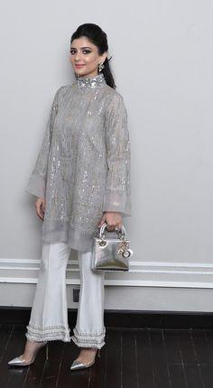 Playing Dress Up with Cross Stitch - Sunday Pakistani Fashion Casual, Pakistani Dresses Casual, Indian Fashion Dresses, Pakistani Dress Design, Indian Designer Outfits, Indian Outfits, Casual Dresses, Fashion Outfits, Pakistani Bridal